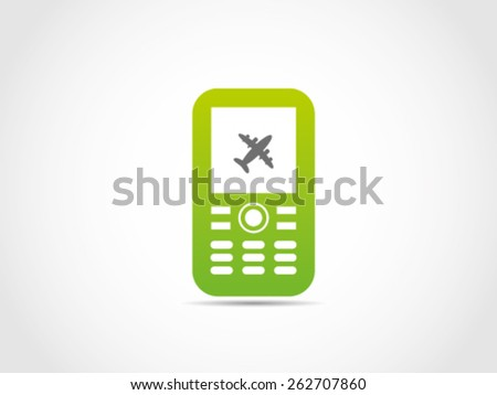 Cellular Travel Device - stock vector