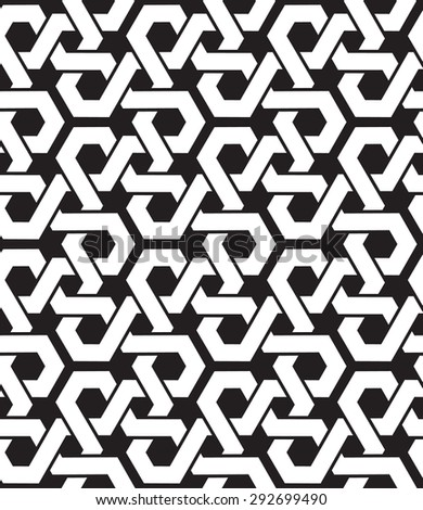 Celtic chain mail. Seamless pattern of intersecting polygons with swatch for filling. Fashion geometric background for web or printing design. - stock vector