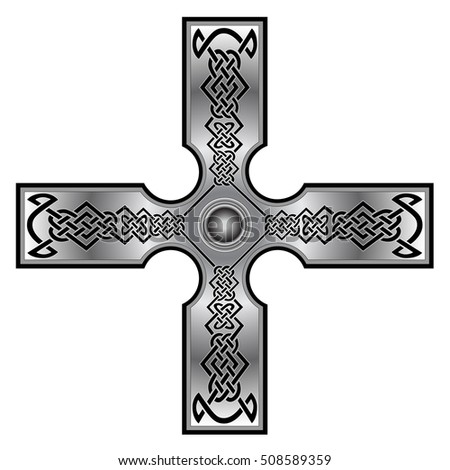 Celtic Cross Tattoo Another Design Stock Vector 508589359 Shutterstock