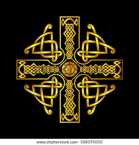 Celtic Cross Tattoosisolated Vectors Celtic Cross Stock Vector