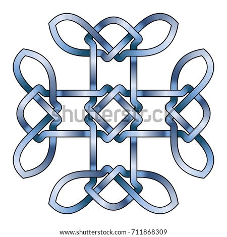 Celtic Cross Vector Ancient Pagan Scandinavian Stock Vector