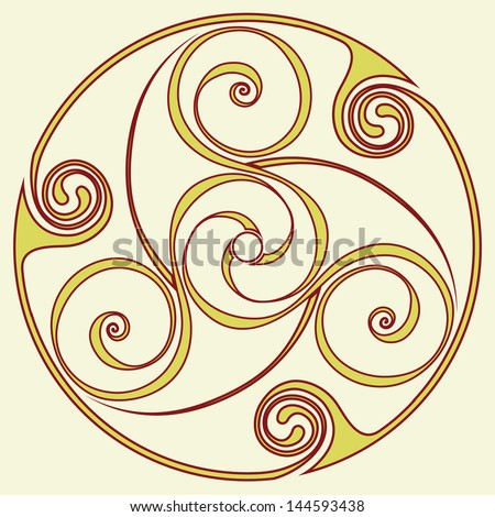 Celtic disk ornament - inspirited by bronze disc from the before ...
