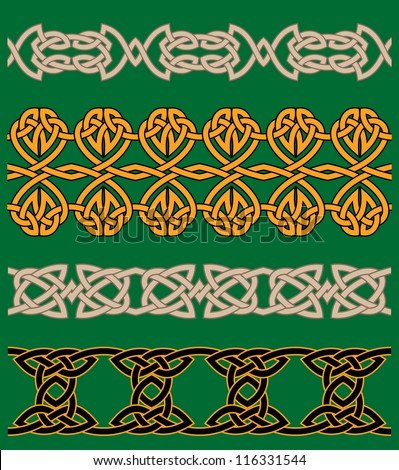 Celtic embellishments and ornaments for ornate and decoration. Jpeg version also available in gallery - stock vector