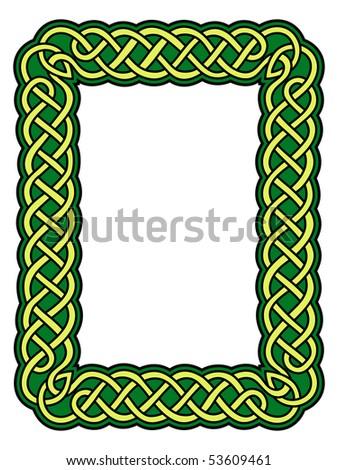 Celtic frame - stock vector