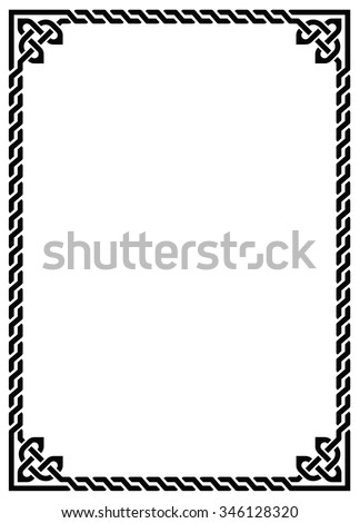 celtic knot braided frame rectangle stock vector 2018 346128320 rh shutterstock com celtic circle border vector free celtic circle border vector free