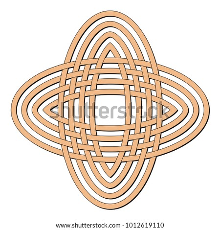 celtic knot circle brown geometric knotwork stock vector hd royalty rh shutterstock com