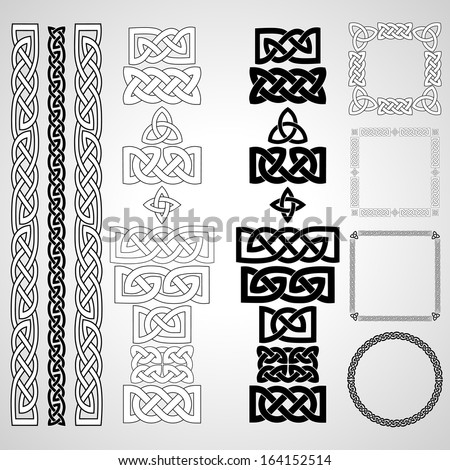 Celtic knots, patterns, frameworks. Vector illustration. - stock vector