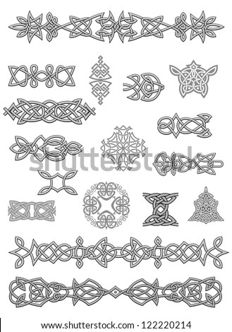 Celtic ornaments for design and decorate. Jpeg version also available in gallery - stock vector