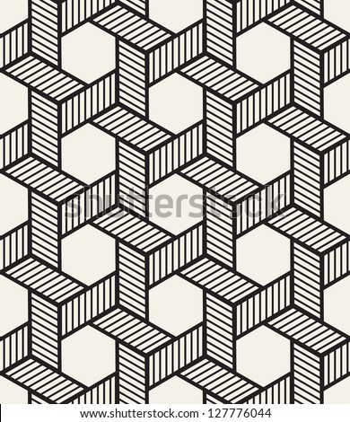 Celtic seamless pattern. Abstract vintage geometric wallpaper. Vector illustration - stock vector