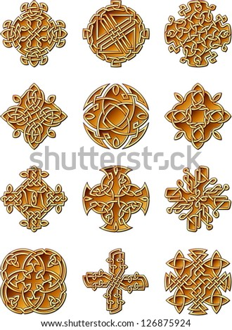 Celtic Style Ornaments - stock vector