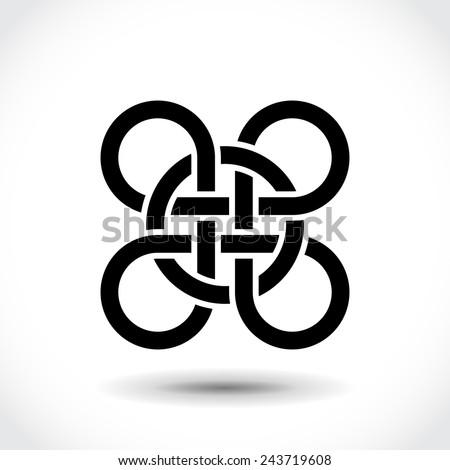 Celtic symbol, logo icon design template - stock vector