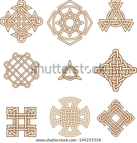 celtic symbols - stock vector