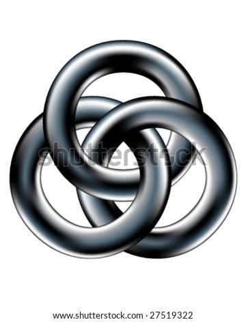 Celtic Wedding Band Corporate Unity Symbol Stock Vector 27519322