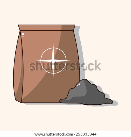 cement bag theme elements  - stock vector