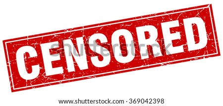 censored red square grunge stamp on white - stock vector
