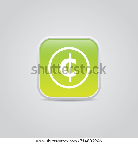 Cent Symbol Icon Stock Vector 714802966 Shutterstock