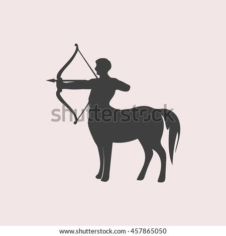 Centaur web icon. Isolated illustration - stock vector