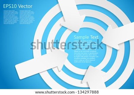 center stage concept, eps10 vector background - stock vector