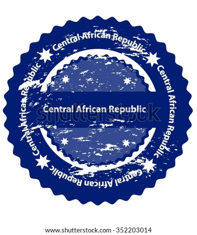 Central African Republic Country Grunge Stamp - stock vector