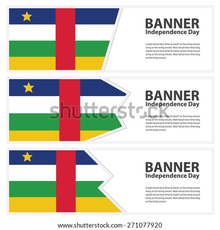 central african republic Flag banners collection independence day - stock vector