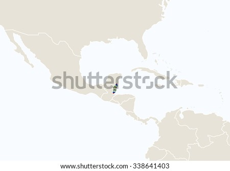Central america highlighted belize map vector vector de central america with highlighted belize map vector illustration gumiabroncs Choice Image
