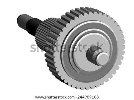 central gear  - stock vector
