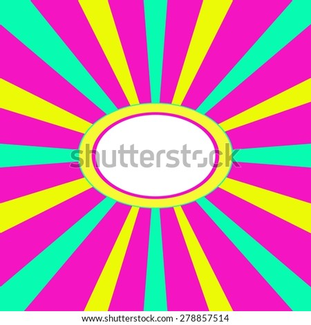 Centralized loud business pattern with free white oval for your text - stock vector