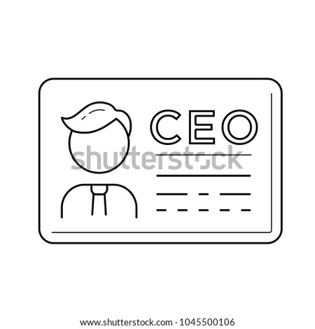 ceo business card vector line icon stock vector 1045500106