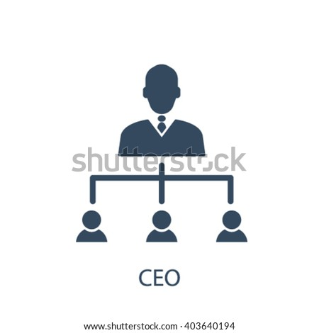 ceo icon  - stock vector