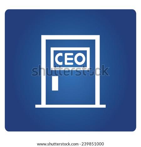 CEO room - stock vector