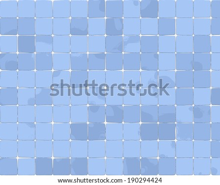 Ceramic tiles a mosaic - stock vector
