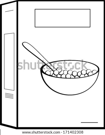 cereal box - stock vector