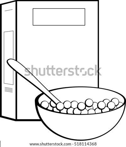 cereal box and bowl