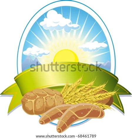 cereal label - stock vector