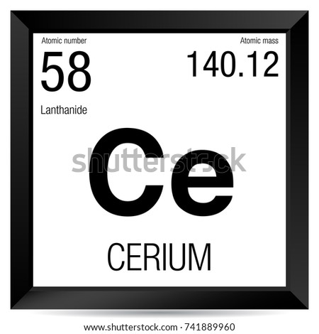 Cerium symbol element number 58 periodic stock vector 741889960 cerium symbol element number 58 of the periodic table of the elements chemistry urtaz Image collections
