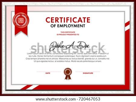 Certificate Blank Template Designed Simple Polygonal Stock Vector