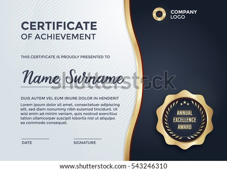 Certificate design - diploma template in vector format