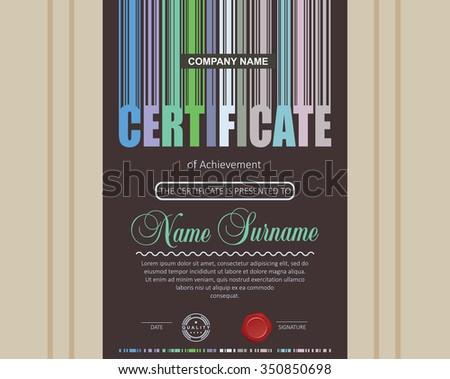 Certificate Design Template. - stock vector
