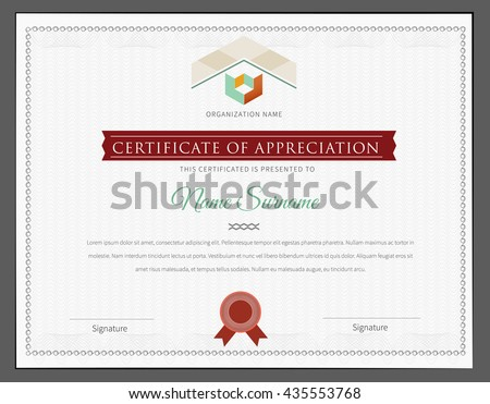 Certificate Design Template. Luxury, vintage styl