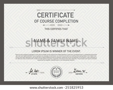 Modern certificate stock images royalty free images vectors certificate design template unique patterned hipster mixed with other designs so as pakalang for yadclub Choice Image