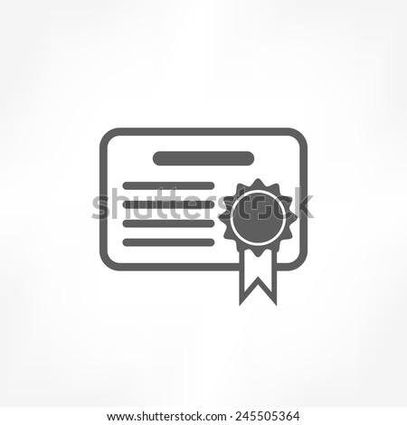 certificate icon - stock vector