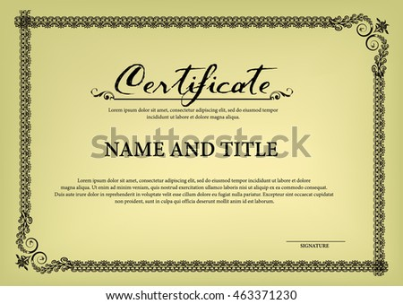 Certificate Name and Title