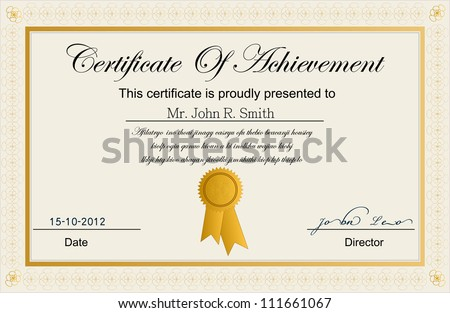 Achievement Award Certificate Stock Images, Royalty-Free Images