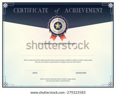 Certificate achievement frame design template stock vector hd certificate of achievement frame design template yadclub Gallery
