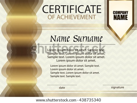 Certificate diploma template award winner winning stock vector certificate of achievement or diploma template horizontal reward award winner winning the yelopaper Images