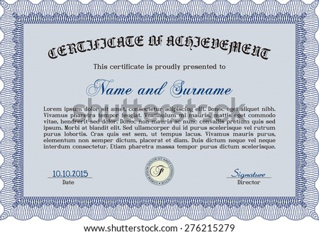 certificate of achievement template border frameeasy to print beauty design - Certificate Of Accomplishment Template