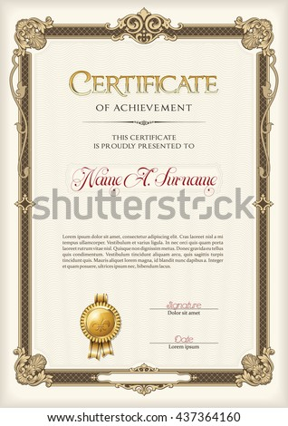 Certificate Of Achievement Stock Images RoyaltyFree Images