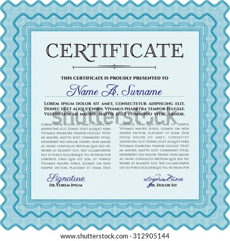 Certificate of achievement. With great quality guilloche pattern. Detailed.Superior design.
