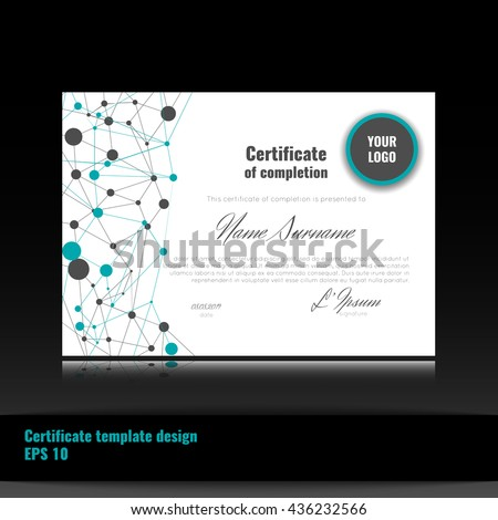 Certificate appreciation completion achievement graduation diploma certificate of appreciation completion achievement graduation diploma or award with connection yadclub Choice Image