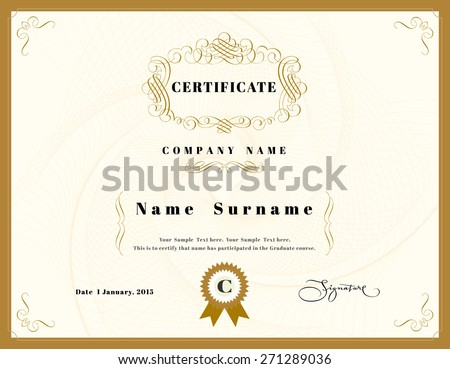 Certificate appreciation design template element emblem stock vector certificate of appreciation design template element with emblem yadclub Image collections